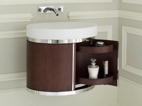 Bathroom Corner Vanity on Wall Hung Vanity     New Strela Vanity From Kohler   Bathroom Design