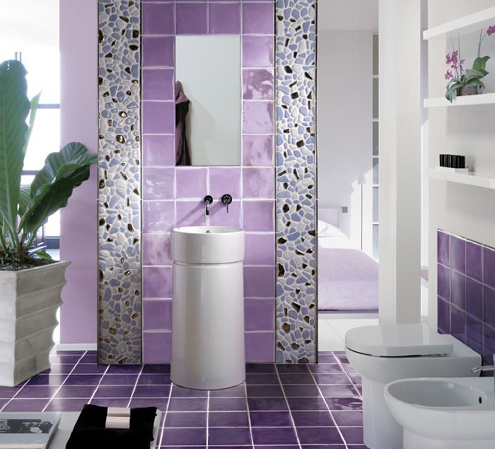 Home design interior monnie purple bathroom ideas 2015 for Outhouse bathroom ideas